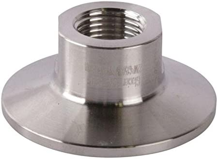 1 1//2 1//4/'/' inch NPT AdapterTri Clamp 1.5 inch x MNPT 1//4 in