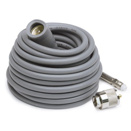 K40 K4018FME 18' Super Mini-8 CB Antenna Cable with Removable FME Connector