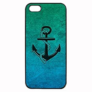 ombre anchor Custom Image Case iphone 4 case , iphone 4S case, Diy Durable Hard Case Cover for iPhone 4 4S , High Quality Plastic Case By Argelis-sky, Black Case New