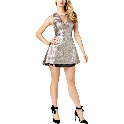 Sachin & Babi Womens Sparkle Mini Party Dress Gold for sale  Delivered anywhere in USA