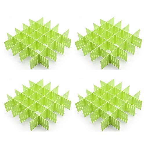 Croing - 32 pcs Green - Drawer Dividers - Drawer Organizer - Drawer Separators ()
