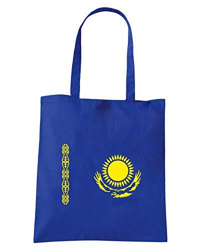 Borsa Shopper Royal Blu TM0204 KAZAKHSTAN FLAG