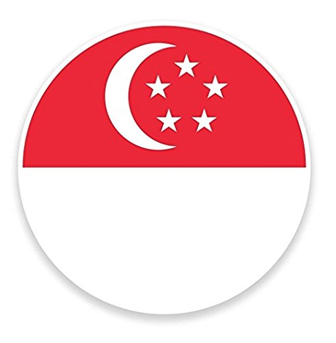 Singapore Flag Map WINDOW CLING STICKER Car Van Campervan Glass - Sticker Graphic - Auto, Wall, Laptop, Cell, Truck Sticker for Windows, Cars, - Singapore Glasses