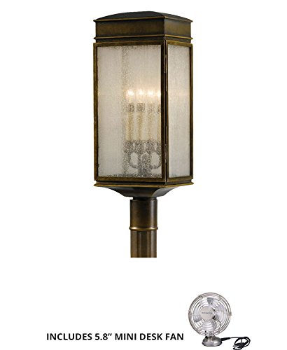 Murray Feiss OL7407ASTB, Whitaker Outdoor Post Lighting, 240 Watts, Bronze (Includes Mini Desk Fan) - Murray Feiss Table Torchiere