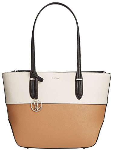 Nine West Reana Tote, Milk/Dark Camel/Black
