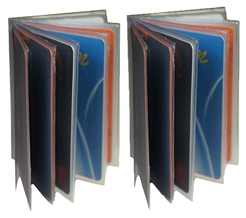 Plastic Id Insert - Bullz Heavy Duty Vinyl 6 Pages Insert for Bifold or Trifolds Wallet(Set of 2 )