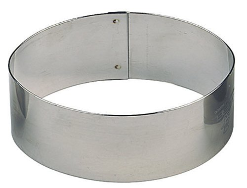 Paderno World Cuisine Pack of 6 Oval Stainless Steel Pastry Rings, 3-Inch by 1-7/8-Inch