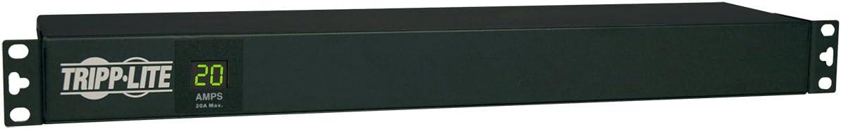 Tripp Lite Metered PDU, 20A, 12 Outlets (5-15/20R), 120V, L5-20P / 5-20P, 110-127V Input, 15 ft. Cord, 1U Rack-Mount Power, 2 Year Warranty (PDUMH20)