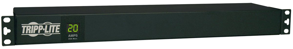 Tripp Lite Metered PDU, 20A, 12 Outlets (5-15/20R), 120V, L5-20P / 5-20P, 110-127V Input, 15 ft. Cord, 1U Rack-Mount Power (PDUMH20)
