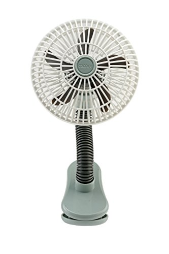 O2COOL 4-inch Clip on Stroller Fan, Battery Operated Clip on Fan, Battery Stroller Fan, 4-inch Fan, Mobile Fan, Clip Fan, Outdoor Fan, Stroller Accessories, Gray