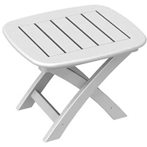 """UPC 009312922345, 21"""" Recycled Earth-Friendly Outdoor Patio Side Table - White"""