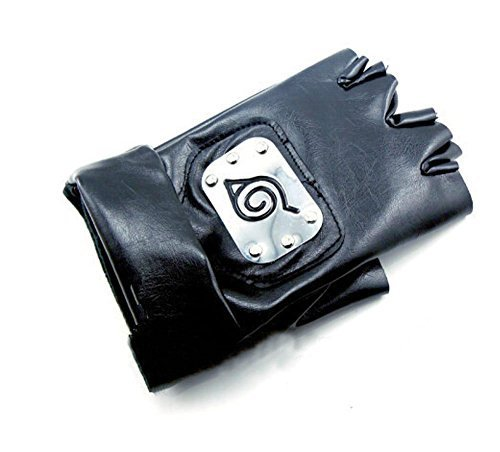 [DIY Homemade Naruto Costume, Naruto Cosplay : Naruto Gloves, Kakashi Gloves, Ninja Gloves (Size 16 X 10 Cm) - Ship From Asia and Take Time for] (Homemade Costumes Funny)