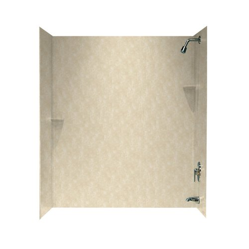 Swanstone SS00723.126 Solid Surface Glue-Up 3 Panel Bathtub Wall Kit 30-in L X 60-in H X 72-in H Cloud Bone