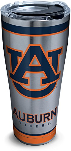 Tervis 1297298 NCAA Auburn Tigers Tradition Stainless Steel Tumbler With Lid, 30 oz, Silver (Stainless Travel Tigers Mug Auburn)