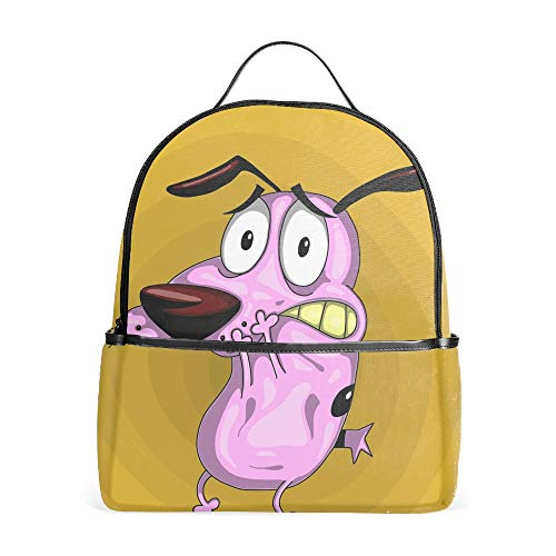 Lightweight Cartoon Courage The Cowardly Dog Backpacks Bags Gmy bags]()