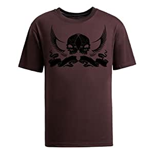 custom Summer Mens Coolest Skull Print Round Neck Short Sleeve Cotton T-shirts, 8 Colors Available by lolosakes