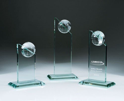 (Jade Glass World Globe Pinnacle Award -)