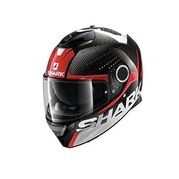 Shark Spartan - Casco de moto de fibra de carbono, talla S, color negro