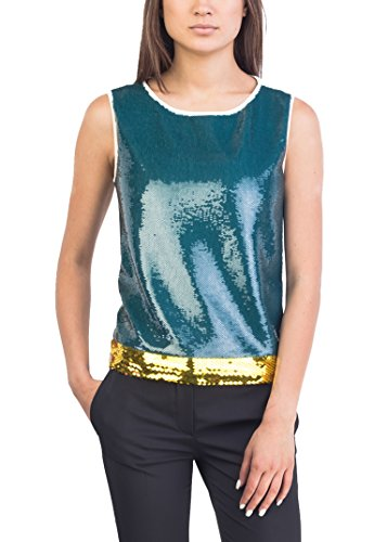 Prada Women's Silk Cotton Blend Shimmering Beaded Tank Top Shirt - Top Prada