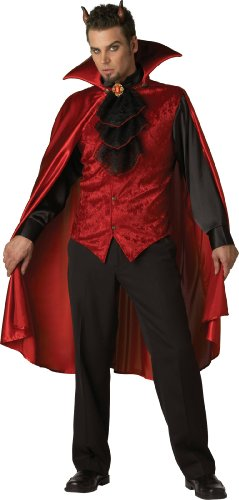 Devil Costume For Men - InCharacter Costumes, LLC Men's Dashing Devil Costume, Red/Black, Large