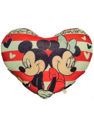 Grande Mickey y Minnie corazón cojín 75 cm 30