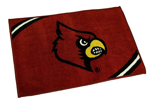 NCAA Officially Licensed Louisville Cardinals Non-Skid Throw Rug 20 x 30 inch