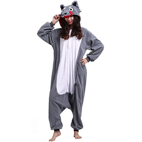 Unisexe Adulte Animal Cosplay Kigurumi Pyjama pour taille 140-187 cm - Loup
