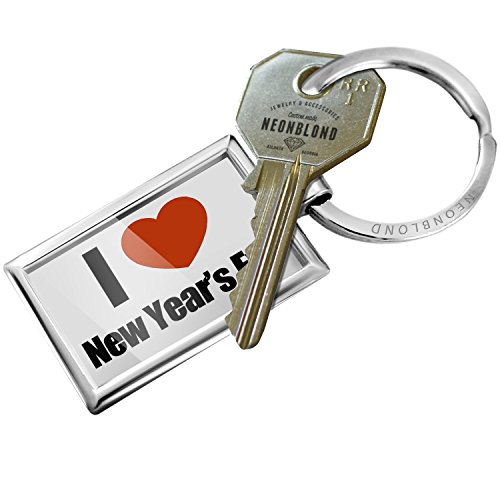Keychain I Love New Years Eve - NEONBLOND