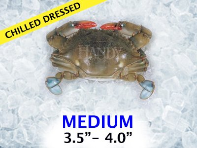 Domestic Mediums Soft Shell Crab - Chilled Dressed (12 Crabs Total) by Handy Seafood