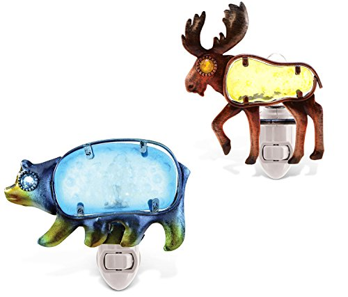 Puzzled Night Light Black Bear and Moose