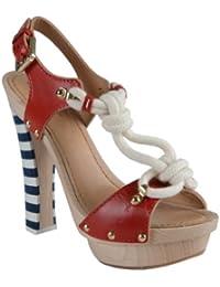 Sandals for Women On Sale, Flame Red, Velvet, 2017, 4.5 5.5 7 8.5 Dsquared2