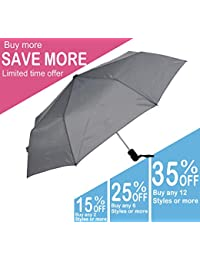 KUD 42 inch Compact Lightweight Auto-open umbrella (Gray)