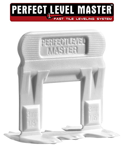 T-Lock TM 1/8 (3mm) 250 Clips PERFECT LEVEL MASTER TM Professional Anti lippage Tile leveling system - (spacers only), Red wedges not included and sold separately! (Spacer Clips)