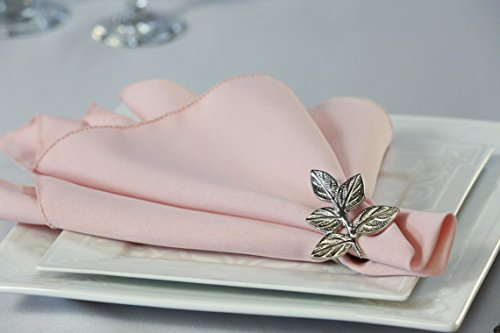 Pack of 12 Polyester Napkins (Blush)]()