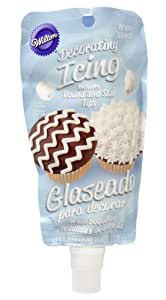 Wilton 704-0187 Icing Pouch with Tips, 8-Ounce, White