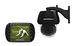 Motorola Scout1100 Remote Wireless Outdoor Video Children, Backyard or Pet Monitor with 3.5-Inch Color LCD Screen, Infrared Night Vision and Remote Camera Pan, Tilt and Zoom