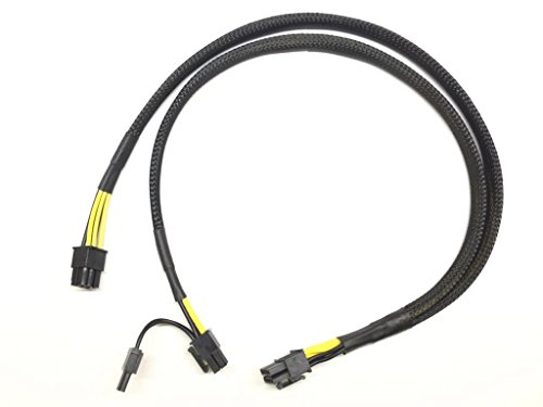 LODFIBER 10pin to 6+8pin Power Cable for HP DL380 G9 and NVIDIA Tesla GPU 50cm