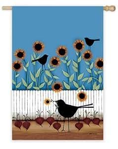 Sunflower / Silhouette Garden Flag