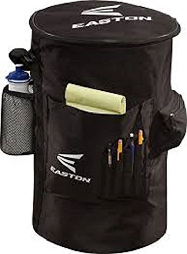 EASTON COACH'S Slip Over Bucket Organizer Cover | 2019 | Black | Padded Seat Top | Organization Panel For Scorecard, Notebook, Line Up Card, Pens, Water Bottle | Carry Strap