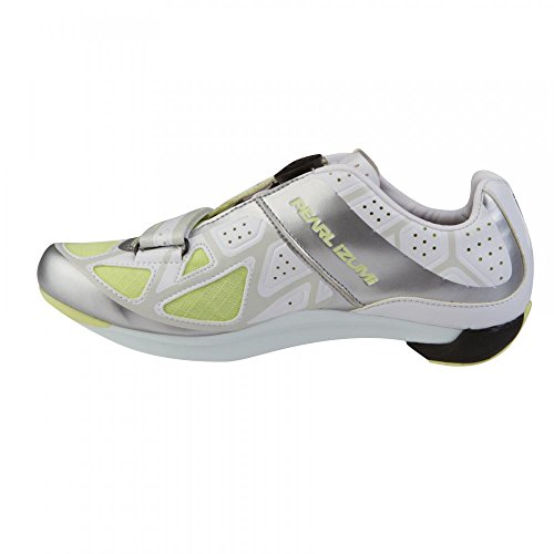 PI Shoes Race Road III White/Silver 38.0 Women, White, 40