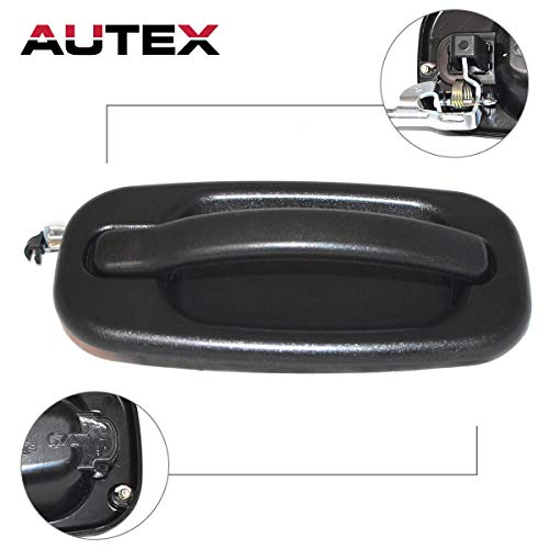 AUTEX 80578 Exterior Rear Right Passenger Side Door Handle Compatible with Chevy Silverado,GMC Sierra 1500 2500 3500,Cadillac Escalade,Chevy Tahoe,GMC Yukon 1999-2007 Door Handle