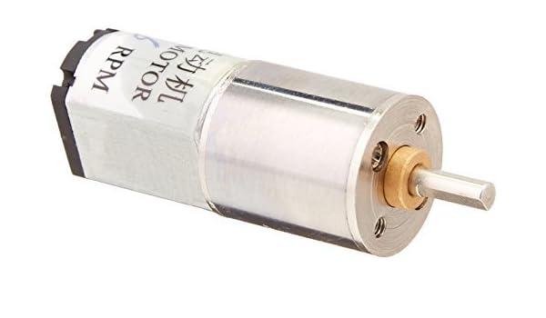 6 rpm DC 6V 0.45A High Torque mini elétrica Voltada Gearbox Motor - - Amazon.com