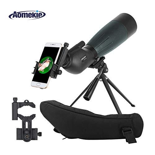 AOMEKIE 20-60x 80 Spotting Scope with Tripod Phone Adapter C