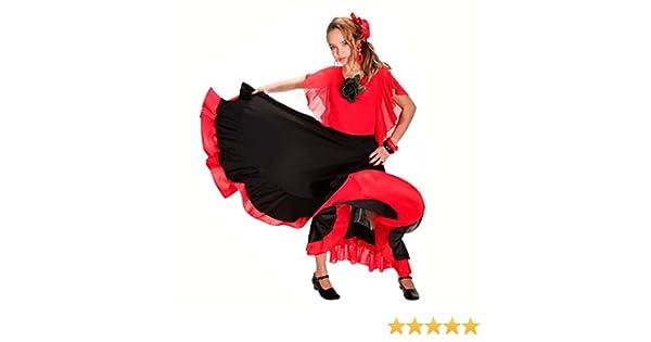 022d4f4b0 Falda Baile Flamenco Infantil Volante Rojo 8 años