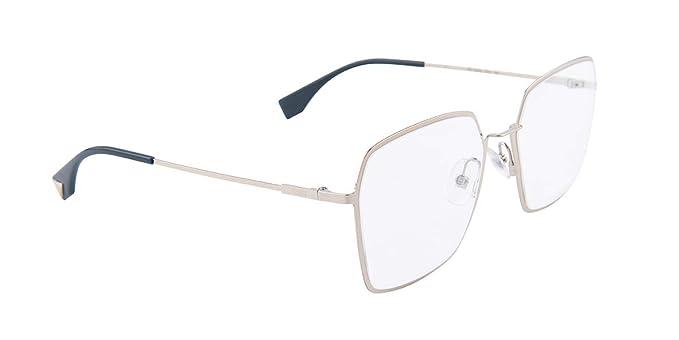 05b5c812ad1b4 Fendi FF0333 Silver Clear Lens Sunglasses  Amazon.co.uk  Clothing