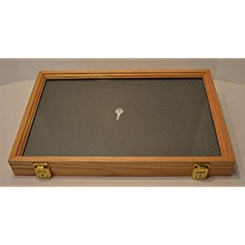 two timbers display case oak 2 x12 x18 wooden box with glass top arrowheads. Black Bedroom Furniture Sets. Home Design Ideas