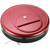 FINE DRAGON Vacuum Robot Cleaner Automatic Robotic Sweeper for Hardwood and Tile Floor (Agate red)