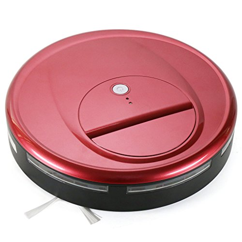 FINE DRAGON Robotic Vacuum Cleaner Automatic Robot Sweeper for Hardwood and Tile Floor (Agate red)