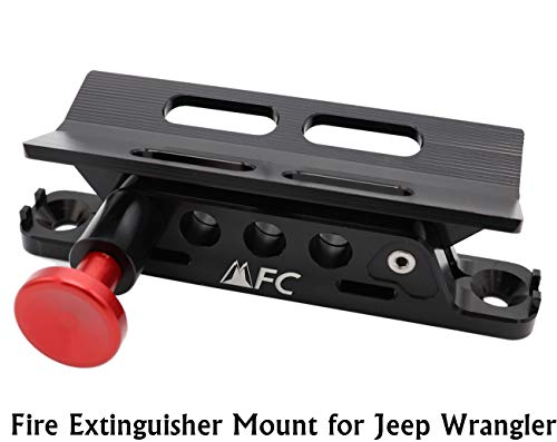 Adjustable Fire Extinguisher Holder Mount with 4 Clamps for Jeep Wrangler, Aluminum