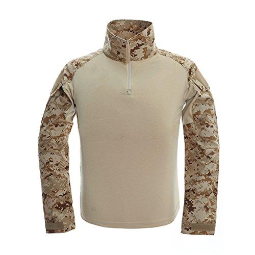 War S/s Tee (TACVASEN Mens Tactical Digital Camo Tactical Assault Long Sleeve T-shirt Tops Desert)